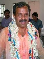 Madhu Goud Yaskhi Celebrating Victory