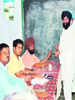 Sher Singh Ghubaya with Party
