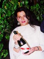 Priya Rajvansh with Wine