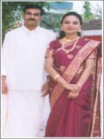Rajani With Husband