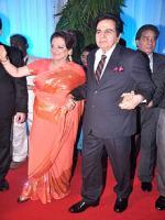 Saira Banu (left) with her husband Dilip Kumar