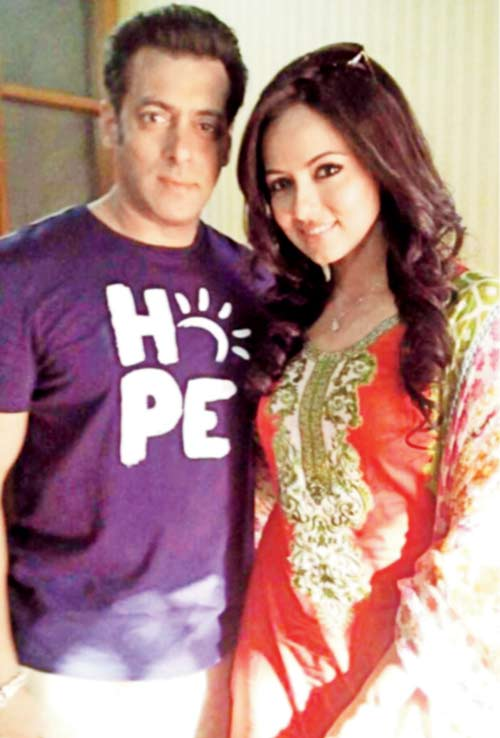 Sana Khan with Salman Khan Photo Shoot