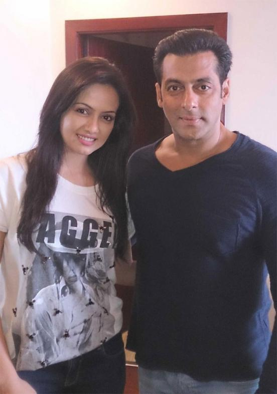 Sana Khan and Salman Khan Photos