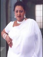 Shakeela in white dress