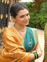 Supriya Pilgaonkar in Movie Shoot