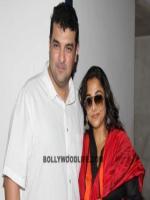 Vidya Balan with husband after shooting