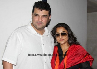 Vidya Balan with husband after shooting