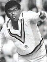 Dilip Doshi Durring Bowling
