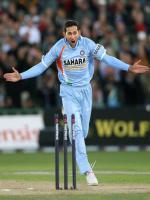 Ajit Agarkar Celebrating Wicket