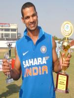 Shikhar Dhawan With Troffies