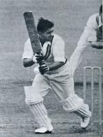 Vinoo Mankad Playing Drive