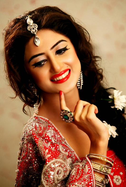 Sajal Ali in Shahdi Dress