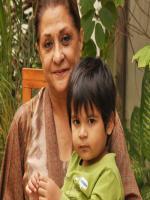 Samina Ahmad with her Gandson