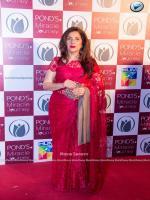 Samina Peerzada in Red Dress