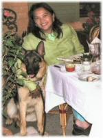 Eileen Tabios with Pet