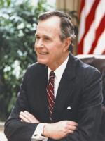 George H. W. Bush at White House