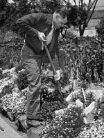 William R. Poage at his Garden