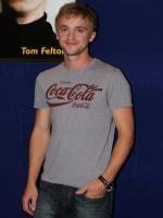 Tom Felton Wearing Cocacola shirt