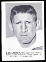 Bob Laraba  Professional Football linebacker