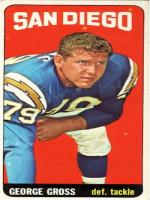 George Gross Professional Football defensive tackler