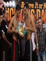 Jorge Linares with Opponent