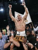 Tony Mundine Rejocing Victory