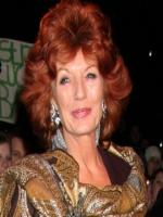 Rula Lenska at TV commercial