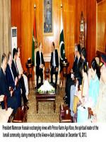 President Mamnoon Exchanging views with Prince Karim Aga Khan