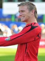 Goalkeeper Simon Thomas