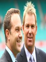 Michael Slater With Sane Warne