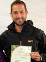 Andrew Durante With Award