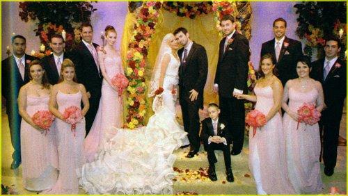 Las bodas de famosos y los vestidos