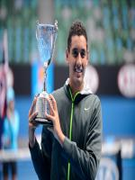Nick Kyrgios With Trophy