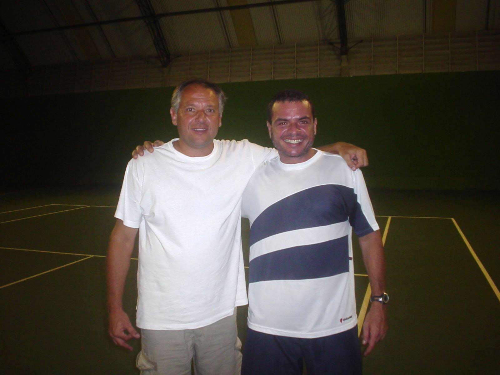 Dácio Campos in Tennis court