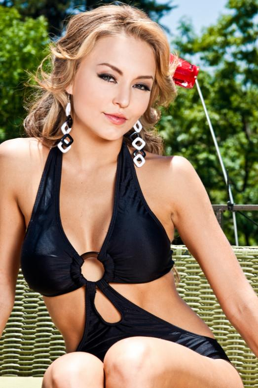 Angelique Boyer in black
