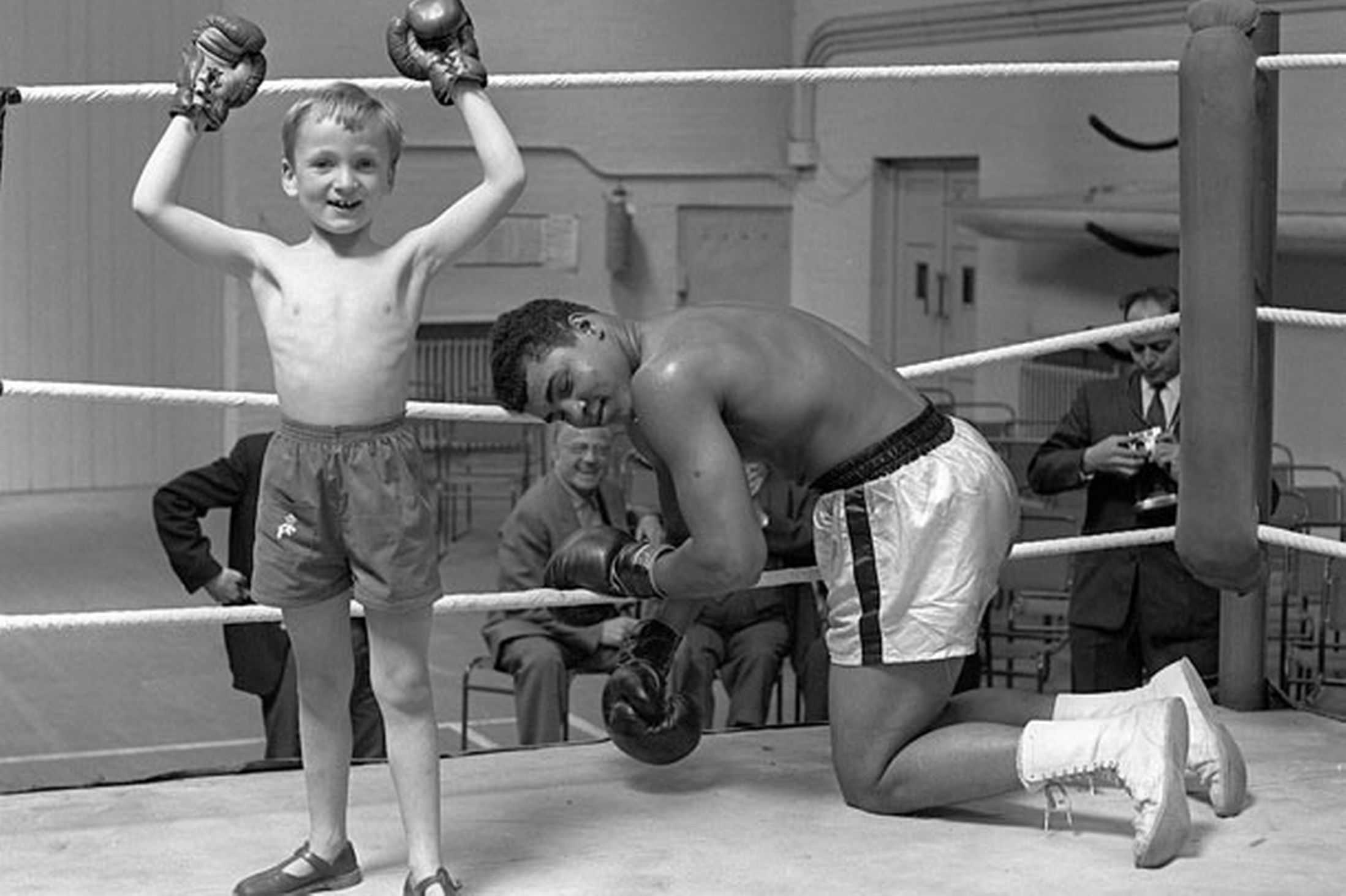 Muhammad Ali with his son