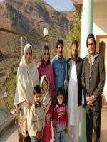 Ajab Gul with Family