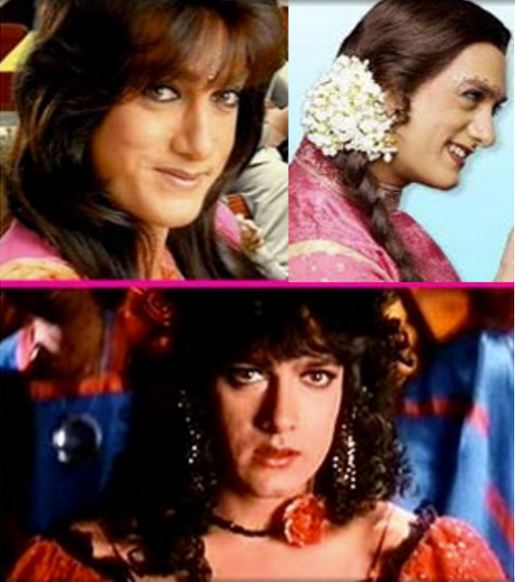 Aamir Khan in cross-dressing in Movies