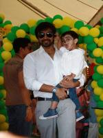 Aashish Chaudhary With His Son
