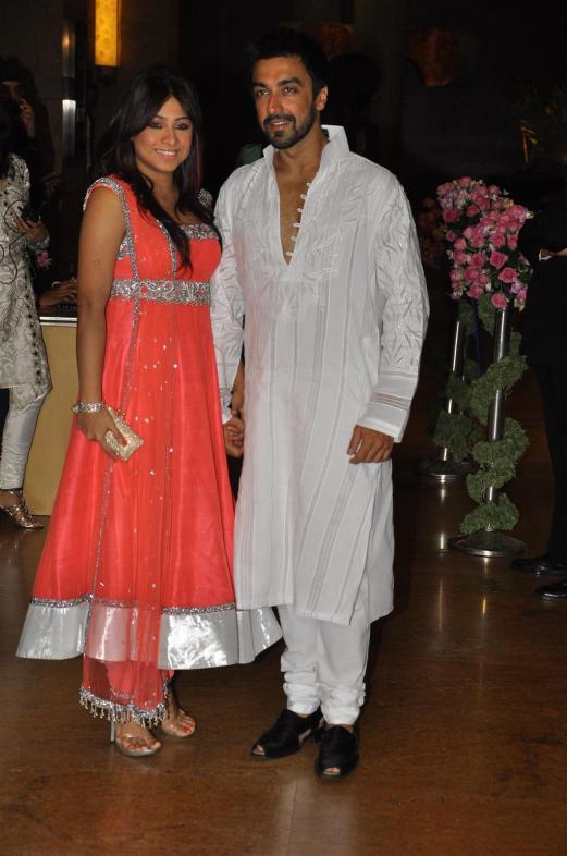 Aashish Chaudhary With His Wife