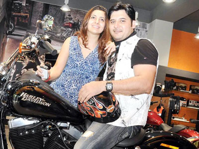 Abbas (actor) with Erum Ali