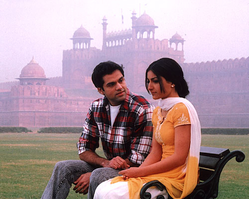 Abhay Deol and Soha Ali in a Movie