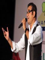 Abhijeeth Durring Stage Performance