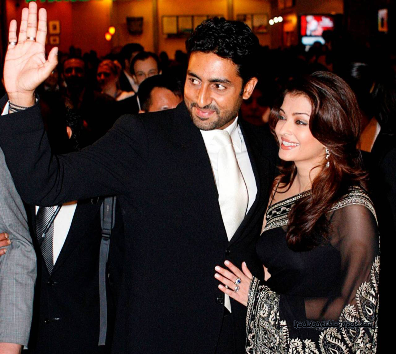 Abhishek Bachchan with His Wife
