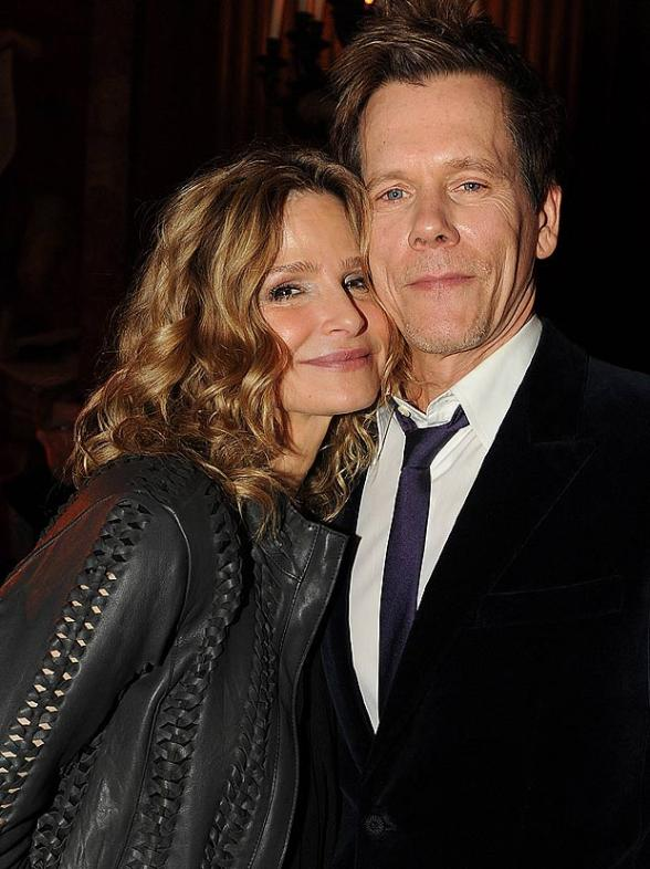 Kevin Bacon with wife