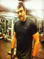 Ajith Kumar at Gym