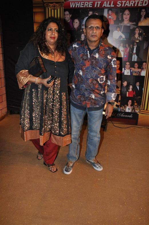 Annu Kapoor with wife