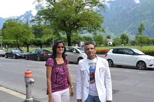 Annu Kapoor in Switzerland