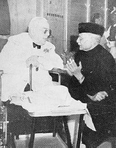 Chaudhry Khaliquzzaman with Aga Khan III