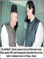 Nawabzada Nasrullah Khan with Imran Khan